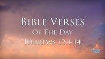 Bible Verses Of The Day: Hebrews 12:4-14 NKJV Inspiring & Encouraging Devotional Video & Music