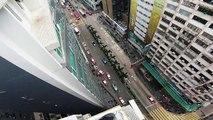 Parkour sur les toits à Hong Kong (POV)