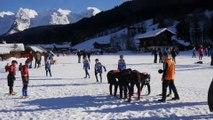 Tournoi de rugby sur neige