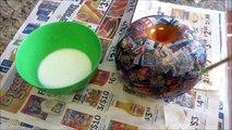 DIY : How To Make Round Pots | Vases Using Paper & Plaster Of Paris