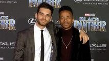 "Coy Stewart and Jeff Ward ""Black Panther"" World Premiere Purple Carpet"