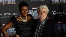 "George Lucas  ""Black Panther"" World Premiere Purple Carpet"