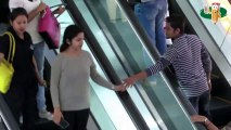 Touching Strangers Hand On Escalator !!!