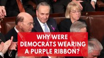 Why Democrats were wearing a purple ribbon at the State of the Union