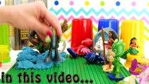 Moana & PJ Masks Toy Hunt Learn Colors! Princess Moana, Owlette, Catboy Gekko Mystery Toy Surprises!