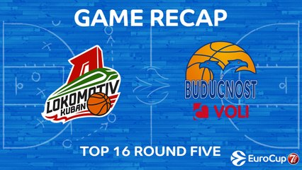 7Days EuroCup Highlights Top 16, Round 5: Lokomotiv 77-66 Buducnost