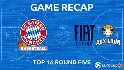 7Days EuroCup Highlights Top 16, Round 5: Bayern 107-81 Fiat Turin