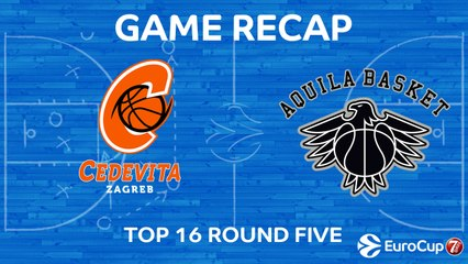 7Days EuroCup Highlights Top 16, Round 5: Cedevita 77-81 Trento
