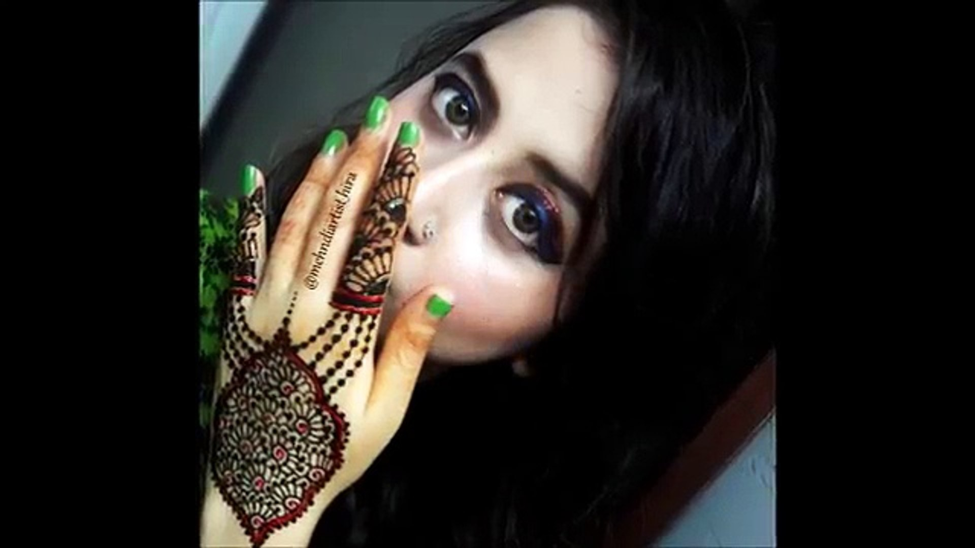 How to apply easy simple dubai gulf henna mehndi designs for hands tutorial for eid 2017