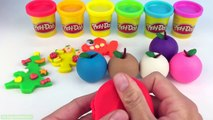 Learn Colors with Play Doh Apples with Fish Teddy Bear Jellyfish Molds Fun and Creative for Kids