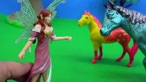 Schleich Fairy Finds Baby Rainbow Unicorn - Honeyheartsc Fantasy Horses Play Video