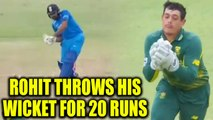 India vs South Africa 1st ODI: Rohit Sharma out for 20 overs | Oneindia News