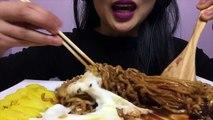 ASMR Instant noodles Jjajangmyun + Fire Noodles (EATING SOUNDS) Shout Outs | SAS-ASMR
