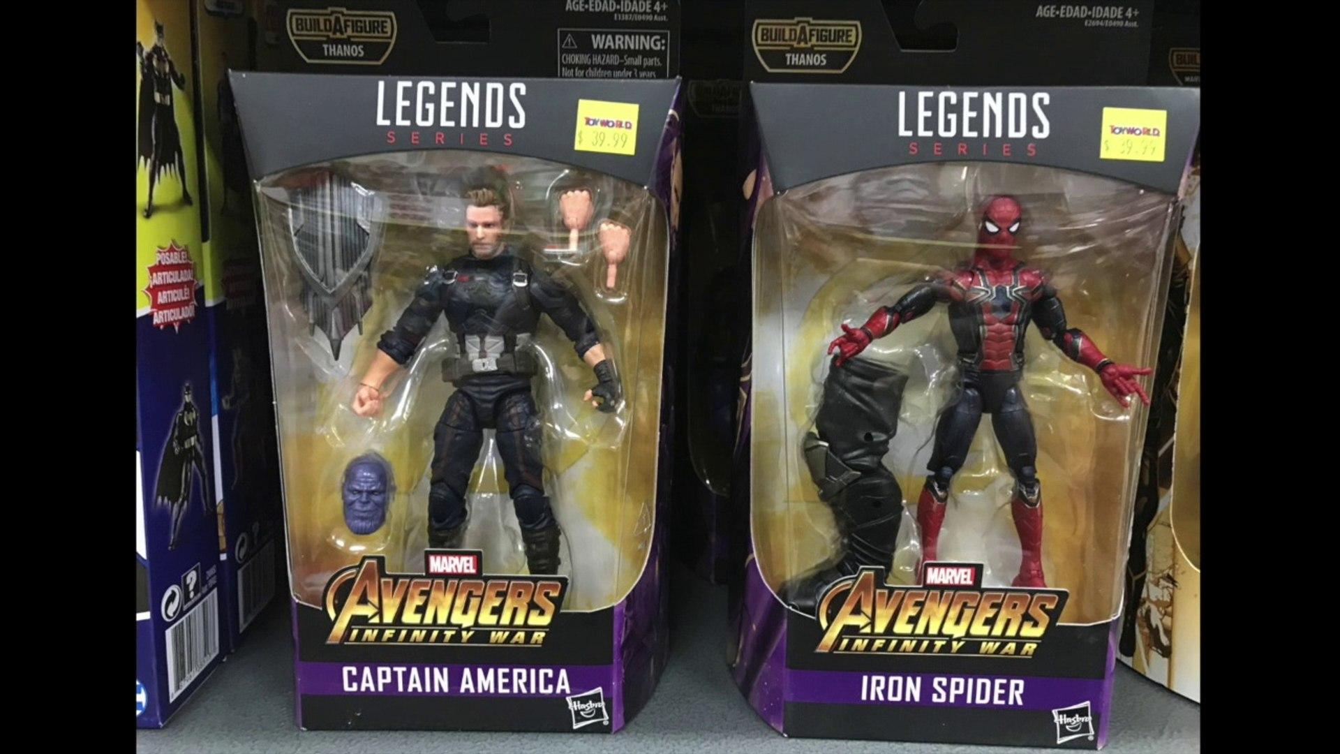 Marvel leggende-Avengers Infinity War WAVE Iron Man Capitan America Iron Spider