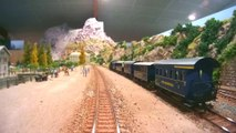 Railfanning view of a large modular model railway layout built in FREMO Free-Mo Modutrak standard | Pilentum Television - The world of model trains