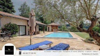 A vendre - Maison/villa - Fontaines st martin (69270) - 9 pièces - 350m²