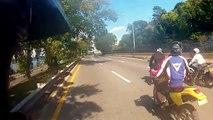 ROAD RAGE NYC Bikers vs SUV Range Rover Accident Biker attack in New York City Motorcycle assault