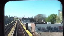 NYC Subway 7 Train Ride Front Car View