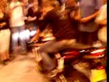 burn de moto et motards au mondial 2007
