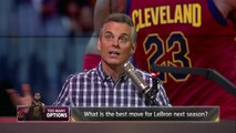 Colin breaks down the percentages of where LeBron James will land if he leaves the Cavs | THE HERD