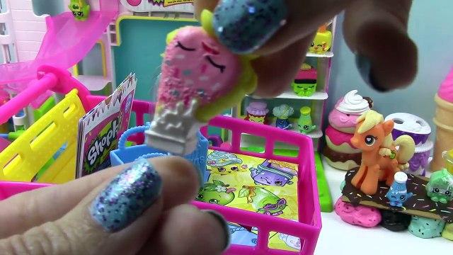 Shopkins Large Shoppin Cart Disney Frozen Queen Elsa Toddler Olaf Snowman Shopping Playset Blind Bag