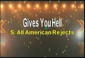 All American Rejects Gives you Hell Karaoke Version
