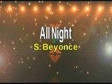 Beyonce All Night Karaoke Version