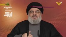 Hassan Nasrallah: The main victims of ISIS are Sunni Muslims