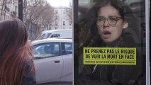 La campagne choc de la Sécurité routière pour sensibiliser les piétons