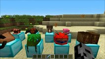 Minecraft: YOUTUBER STATUES (MOB HEADS, WEAR THEM, & STATUES!) Mod Showcase