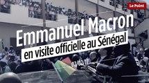 Emmanuel Macron en visite officielle au Sénégal
