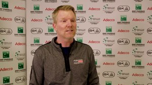 Suiting up with Jim Courier