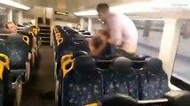 Embrouille de bourrés qui se termine en câlin dans le métro !