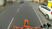 How i go to school by KTM 125 exc! -GOPRO-