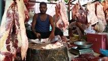 Beef Market |Beef Market | Muslim Bazar Cow Meat Processing Dhaka Bangladesh