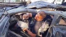Ce pilote détruit sa Camaro SS à 310 kmh pendant une course