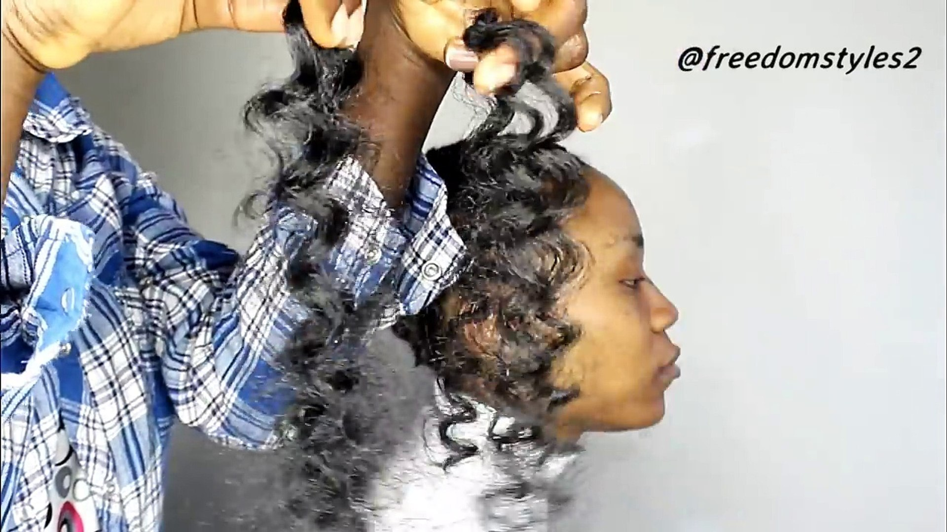 How To Slay Crochet Braids On Short Natural Hair Video Dailymotion