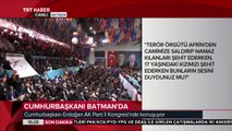 Cumhurbaşkanı Erdoğan: ÖSO'nun kolunda fors olarak Türk bayrağı, PYD'de ise ABD bayrağı var
