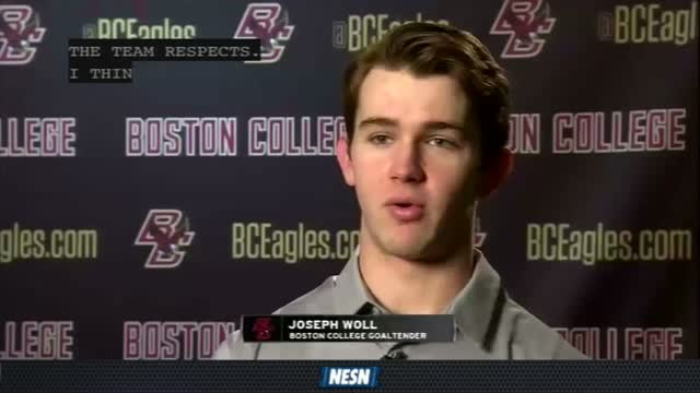 Boston College Goaltender Joseph Woll Prepares For The Beanpot