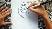 Como dibujar a phantom chica de five nights at freddys | how to draw phantom chica