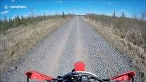 Helmet camera captures terrifying dirt bike crash
