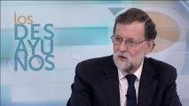 Mariano Rajoy, durante una entrevista en los desayunos de TVE