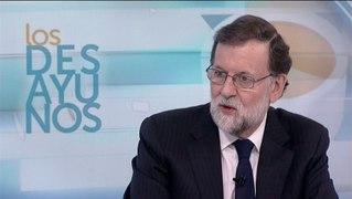 Mariano Rajoy durante una entrevista en los desayu
