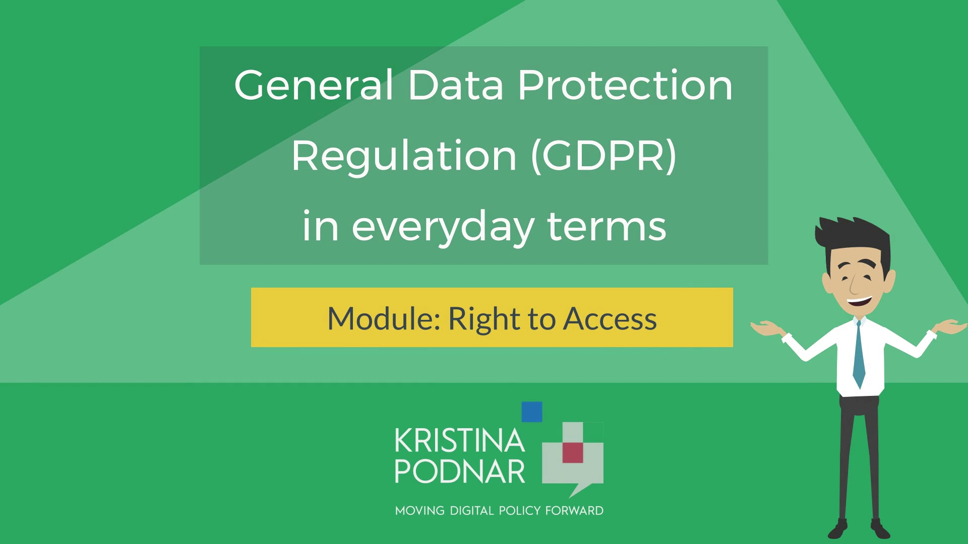 GDPR:  Right to Access