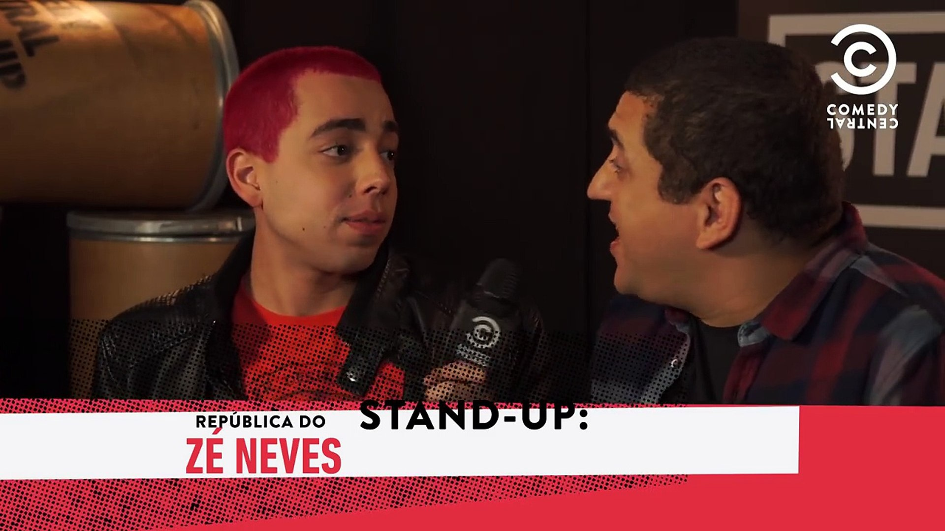 Lucas Selfie nos bastidores do #StandUpNoComedy - Zé Neves