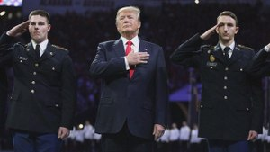 Trump releases national anthem message ahead of Super Bowl