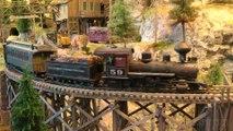 Locomotives à vapeur en un réseau miniature en échelle 0 - Une vidéo de Pilentum Télévision sur le modélisme ferroviaire avec des trains miniatures