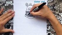 Como dibujar a fredbear de five nights at freddys 4 | how to draw fredbear