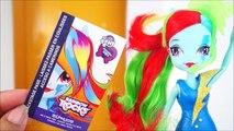 Boneca My Little Pony Equestria Girls Rainbow Rocks Rainbow Dash Brinquedos KidsToys em Portugues