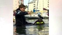 Os cães que trabalham como salva-vidas em praias britânicas
